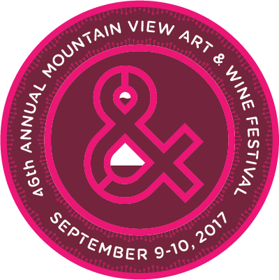 Mountain View Art and Wine Festival 2017 logo design