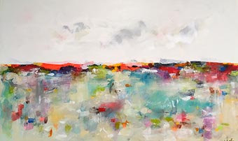 Linda Donohue painting 'Colorscape Sea'