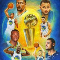 Ben Teeter painting - Golden State Champs